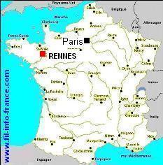 carte de france rennes